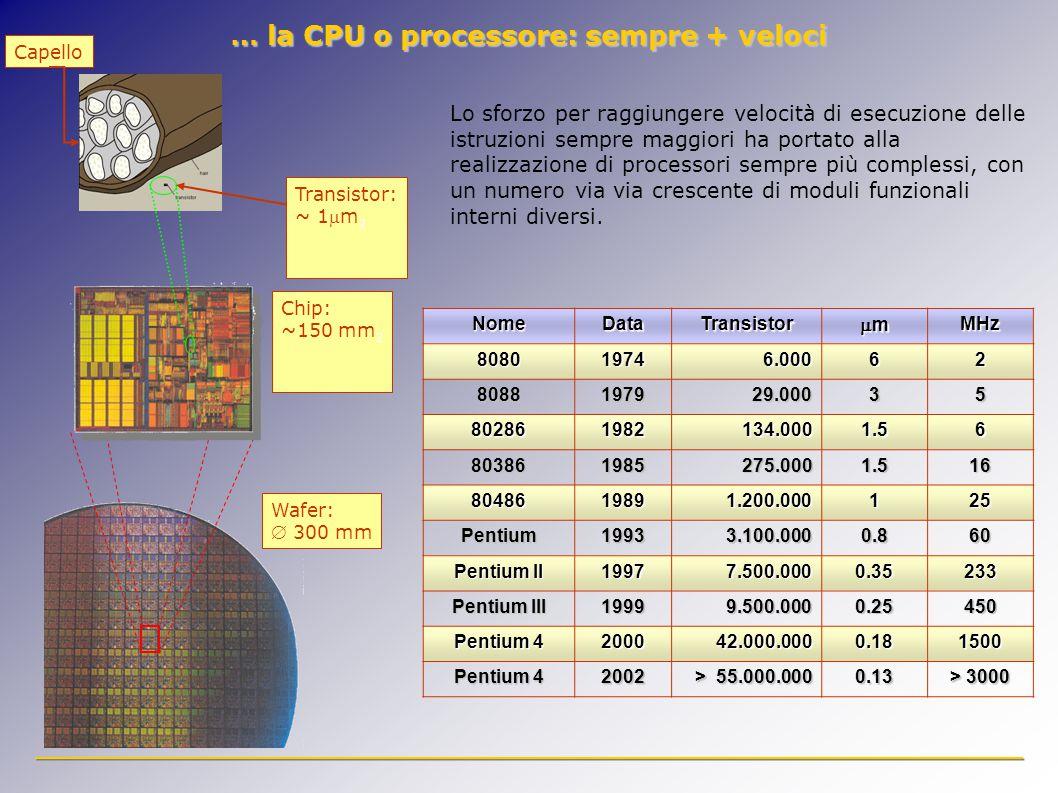 Lo sforzo per raggiungere velocità di esecuzione delle istruzioni sempre maggiori ha portato alla realizzazione di processori sempre più complessi, con un numero via via crescente di moduli funzionali interni diversi.