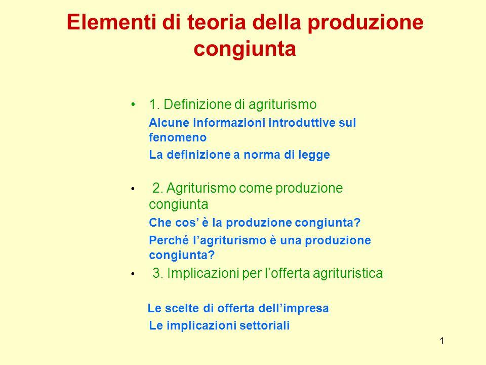 1 Elementi di teoria della produzione congiunta 1.