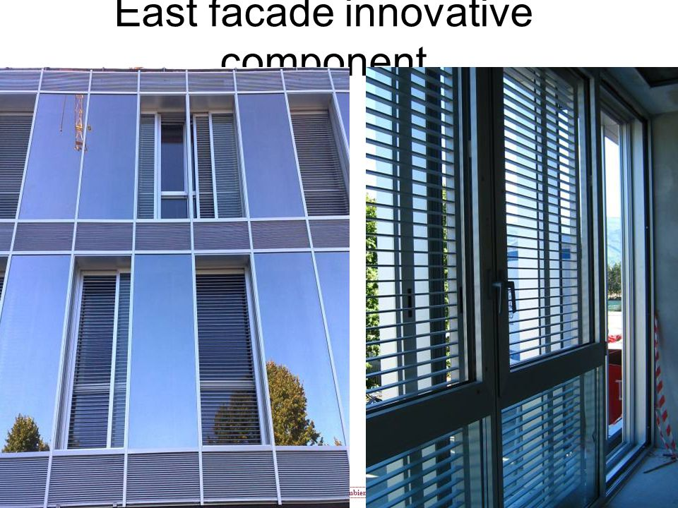 Centro Competenze In Ambienti Virtuali e Ici East facade innovative component