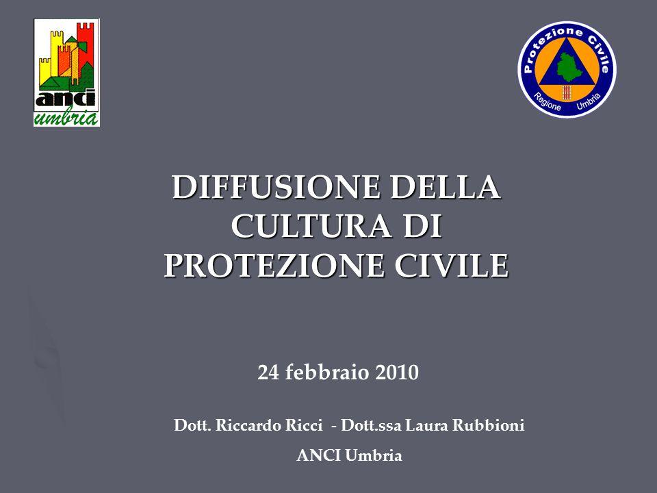 DIFFUSIONE DELLA CULTURA DI PROTEZIONE CIVILE Dott.