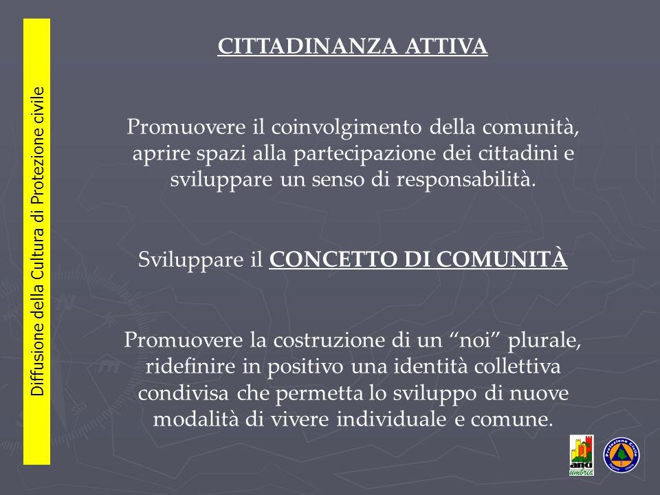 CITTADINANZA ATTIVA Promuovere il coinvolgimento della comunità, aprire spazi alla partecipazione dei cittadini e sviluppare un senso di responsabilità.