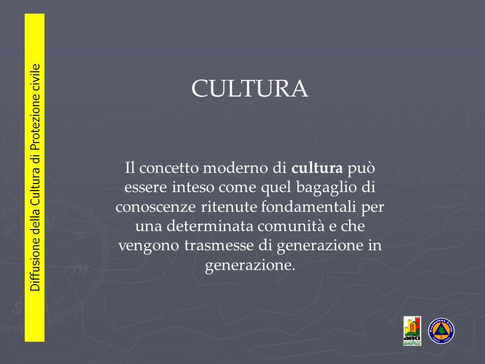 L'acquisizione di nuovi stili di vita, di abitudini e comportamenti e' possibile solo dopo che sia stata costruita e condivisa con i cittadini una nuova cornice culturale.