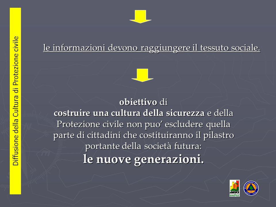 le informazioni devono raggiungere il tessuto sociale.