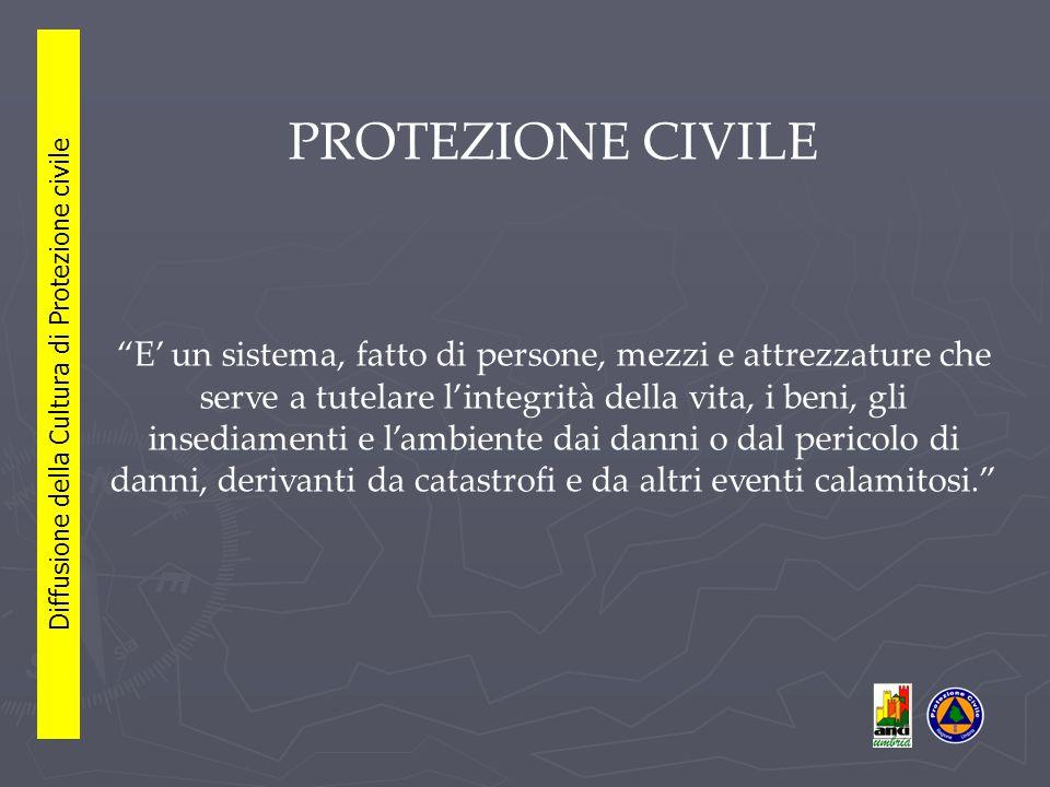 Un concetto piu' ampio della Protezione civile, non deve essere interpretato solo ed esclusivamente come organizzazione di risorse e procedure, ma deve essere preso in considerazione come un insieme di atteggiamenti, rete di rapporti, senso civico ed etica.