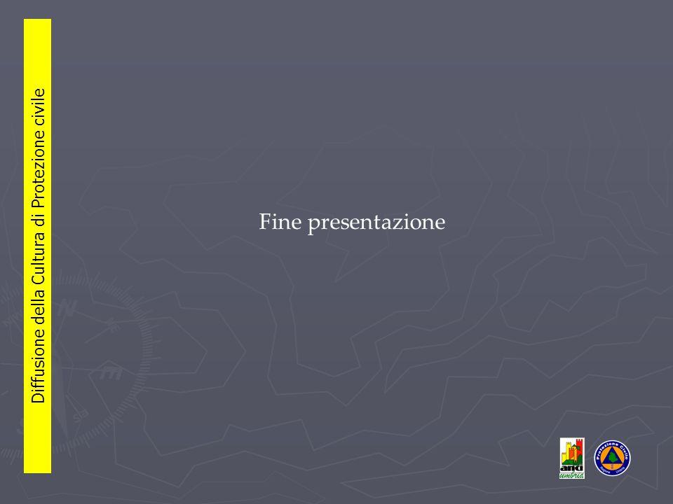 Fine presentazione Diffusione della Cultura di Protezione civile