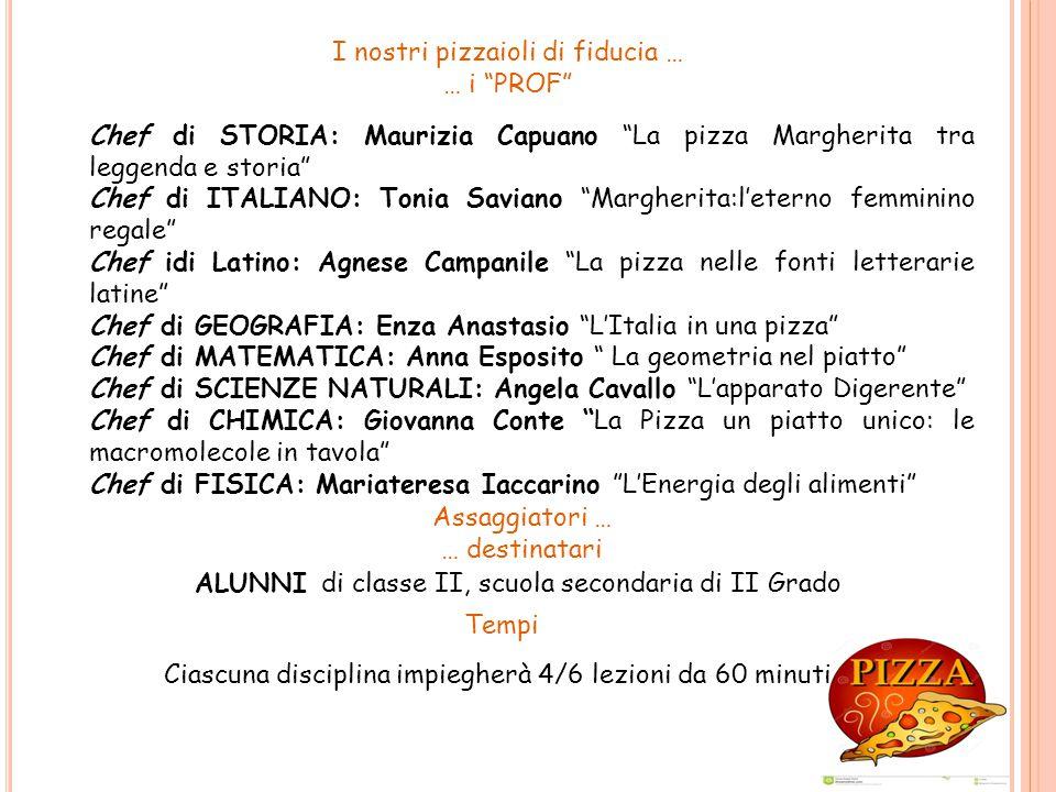 """I nostri pizzaioli di fiducia … … i """"PROF"""" Chef di STORIA: Maurizia Capuano """"La pizza Margherita tra leggenda e storia"""" Chef di ITALIANO: Tonia Savian"""