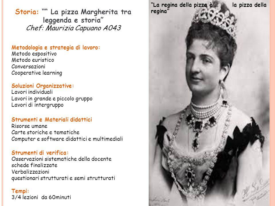 Margherita oggi … La regina Margherita a Napoli funge da raccordo tra storia locale e storia nazionale .