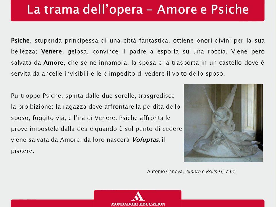 La trama dell'opera - Amore e Psiche Psiche, stupenda principessa di una città fantastica, ottiene onori divini per la sua bellezza; Venere, gelosa, c