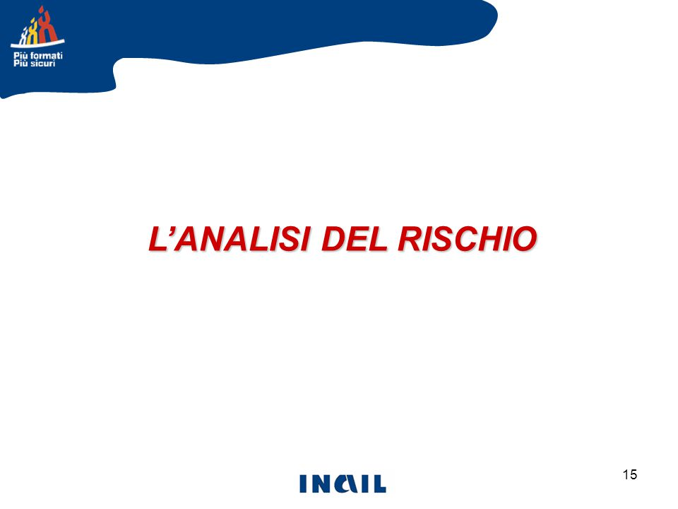 15 L'ANALISI DEL RISCHIO