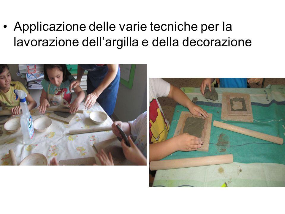 Applicazione delle varie tecniche per la lavorazione dell'argilla e della decorazione