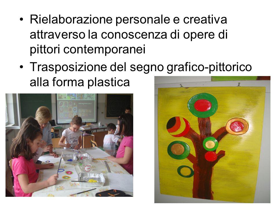 Rielaborazione personale e creativa attraverso la conoscenza di opere di pittori contemporanei Trasposizione del segno grafico-pittorico alla forma pl
