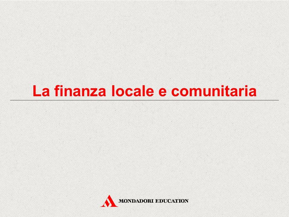 La finanza locale e comunitaria