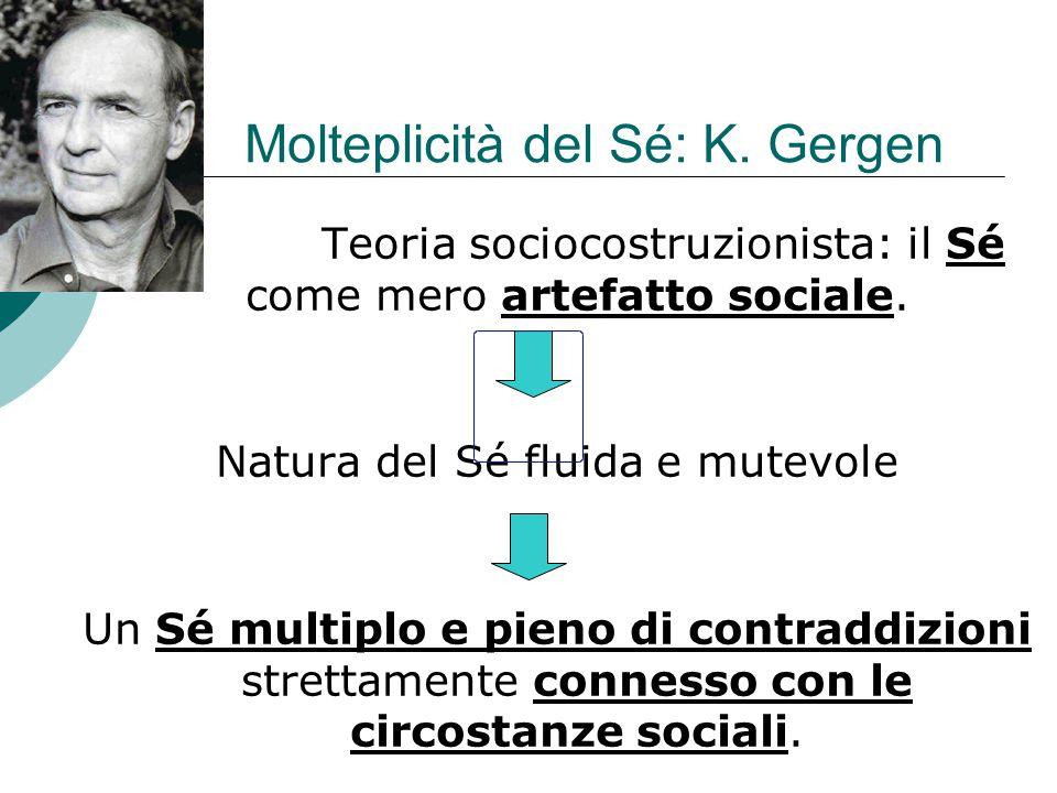 Molteplicità del Sé: K.Gergen Teoria sociocostruzionista: il Sé come mero artefatto sociale.
