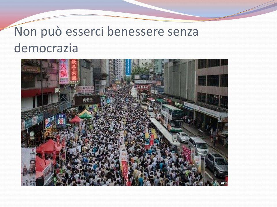 Non può esserci benessere senza democrazia