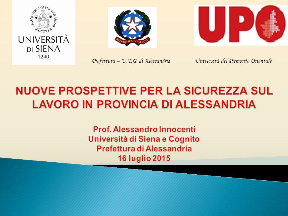 Prefettura – U.T.G. di Alessan dria Università del Piemonte Orientale