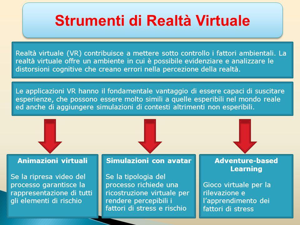 Migliori risultati derivanti dall'utilizzo di immersione in ambienti virtuali per la rilevazione delle cause e dei fattori di stress lavoro- correlato.
