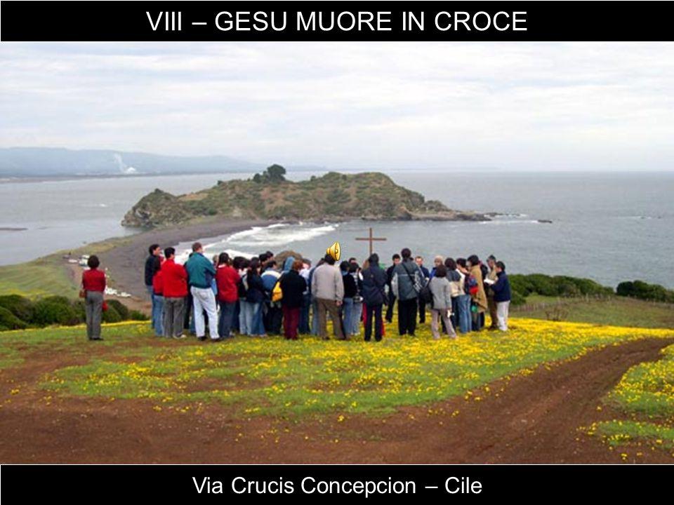 Via Crucis Concepcion – Cile VIII – GESU MUORE IN CROCE