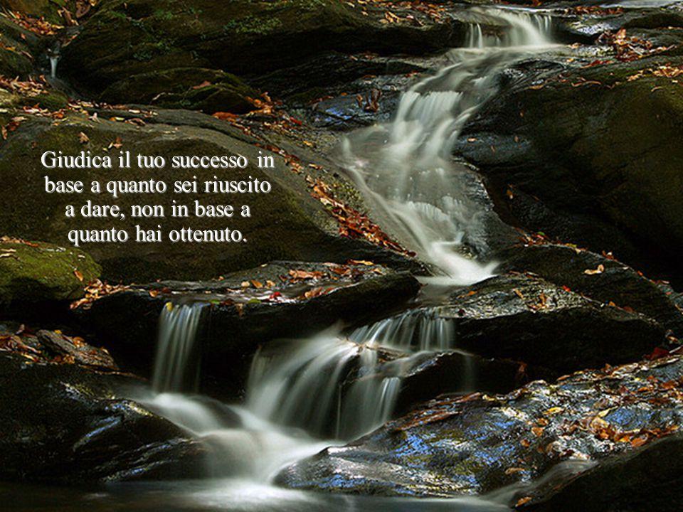 Giudica il tuo successo in base a quanto sei riuscito a dare, non in base a quanto hai ottenuto.