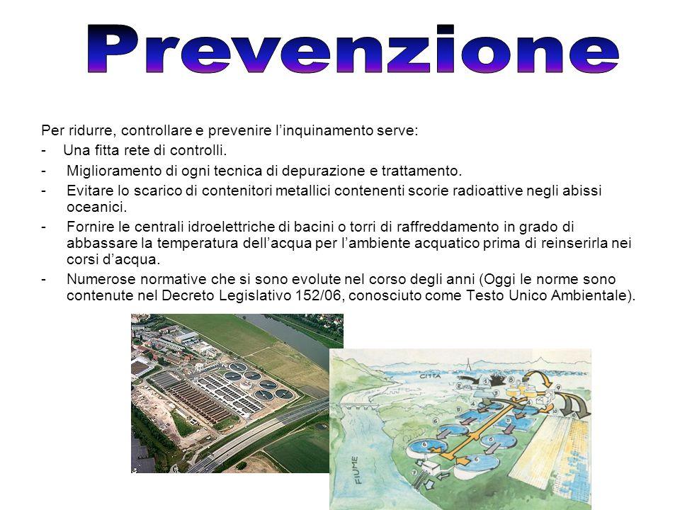 Per ridurre, controllare e prevenire l'inquinamento serve: - Una fitta rete di controlli.
