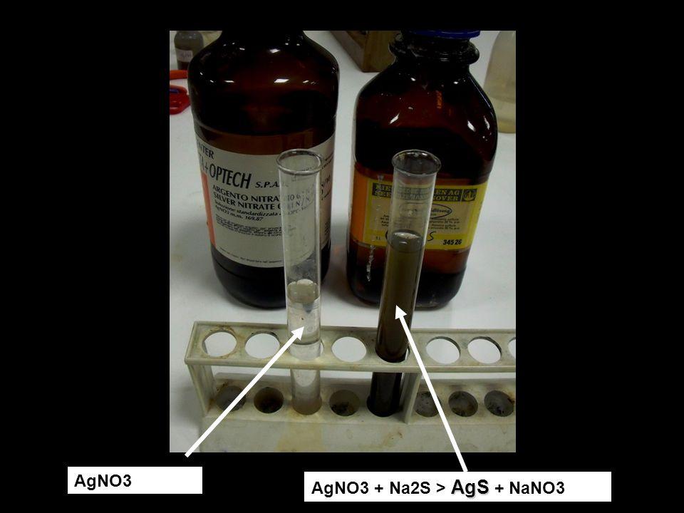 AgNO3 AgS AgNO3 + Na2S > AgS + NaNO3