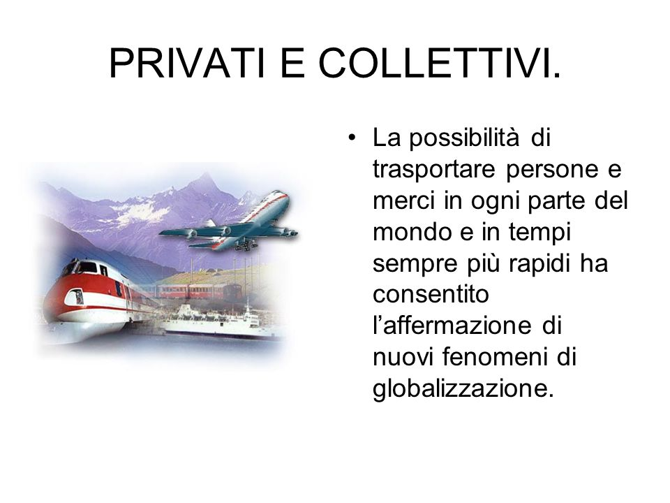 PRIVATI E COLLETTIVI.
