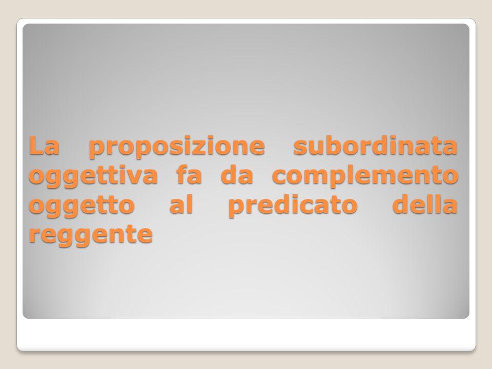 Questa proposizione dipende sempre da una reggente che ha il predicato con il soggetto (espresso o sottointeso).