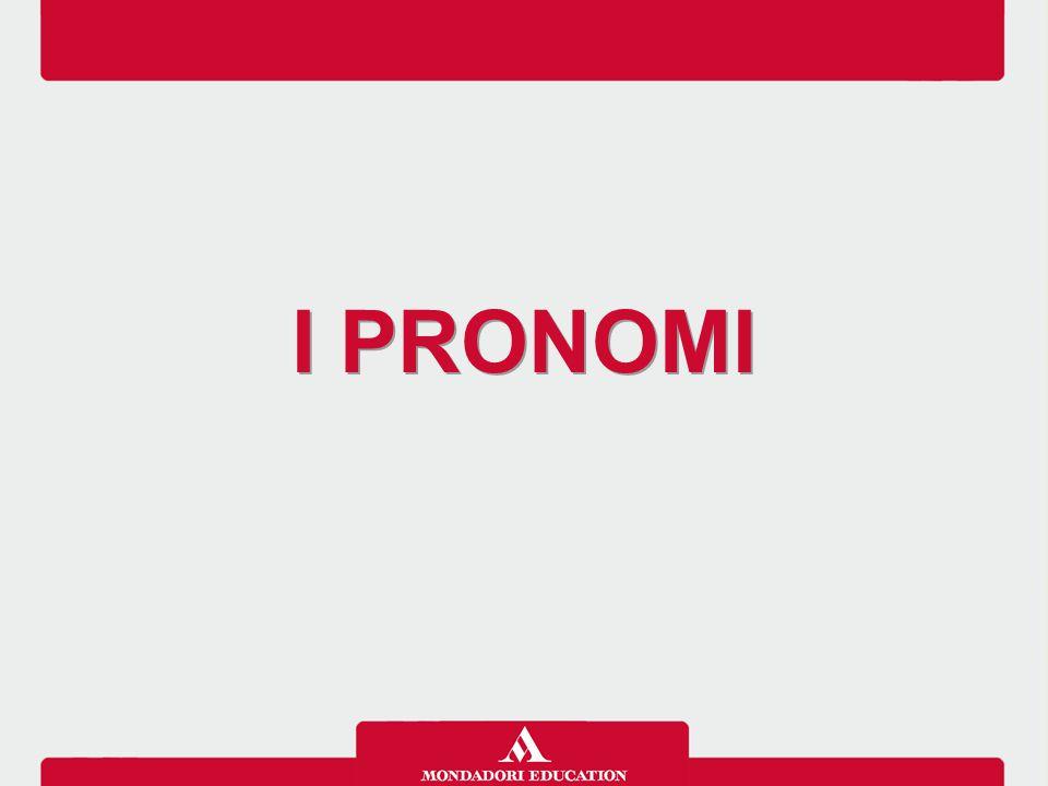 I pronomi sono parole usate al posto di un nome.
