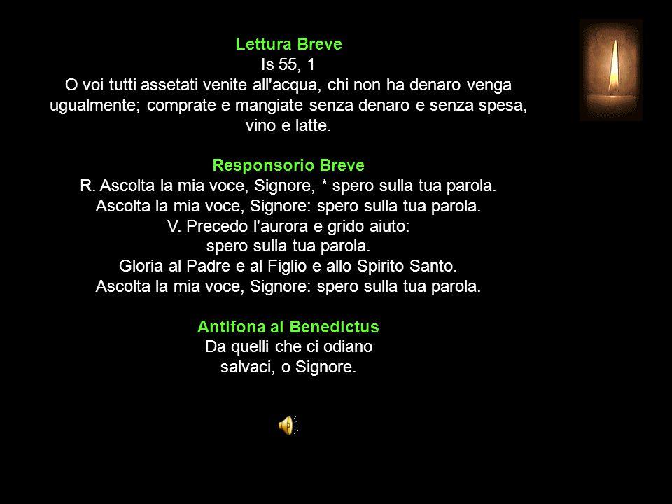 3^ Antifona Canterò per te un canto nuovo, Dio che dai vittoria.