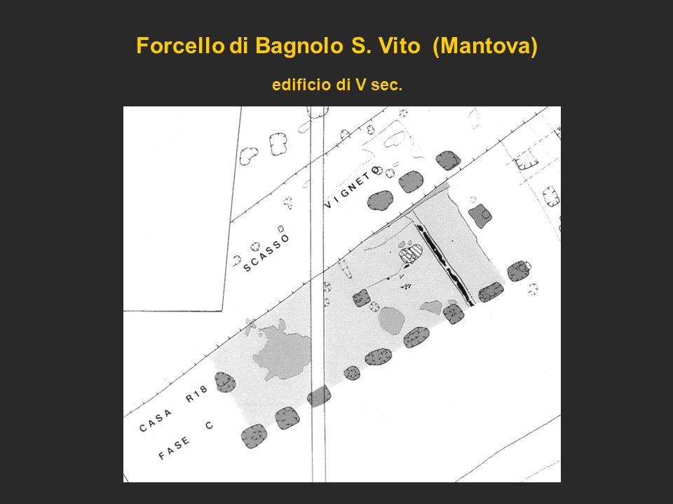 Forcello di Bagnolo S. Vito (Mantova) edificio di V sec.