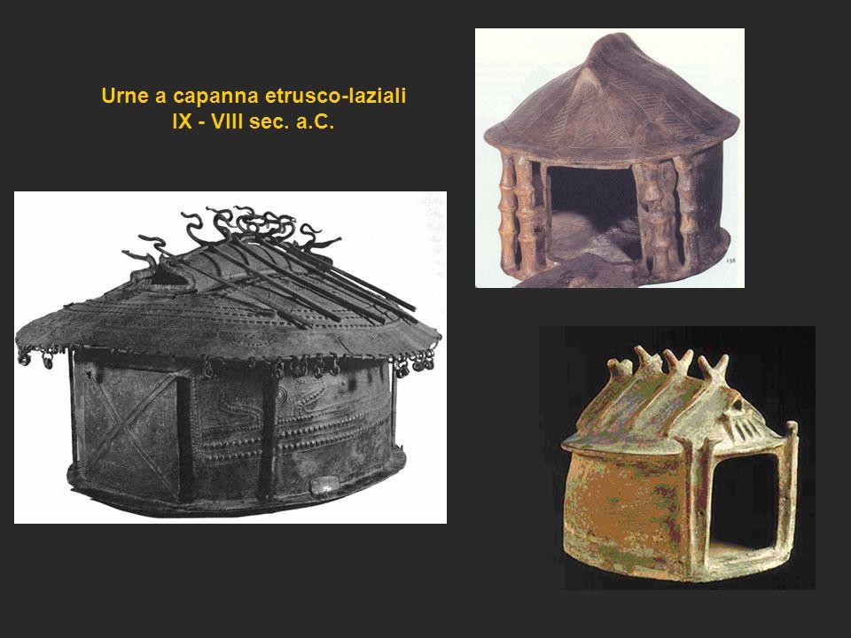 Urne a capanna etrusco-laziali IX - VIII sec. a.C.