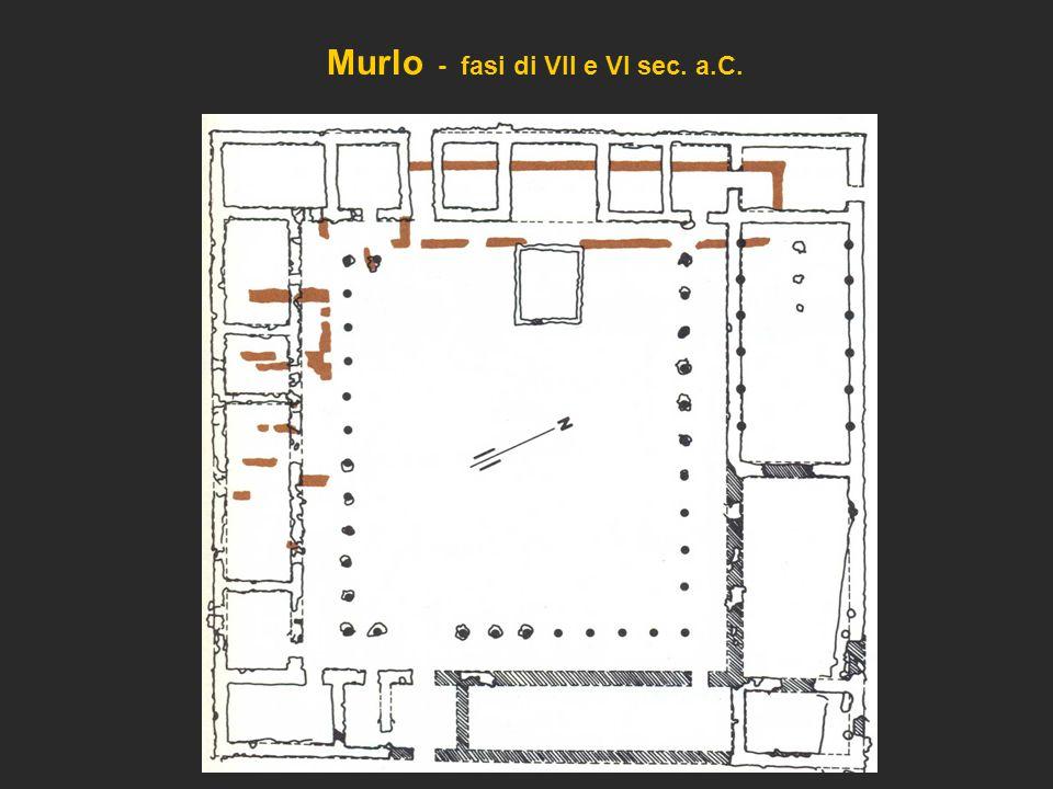 Murlo - fasi di VII e VI sec. a.C.