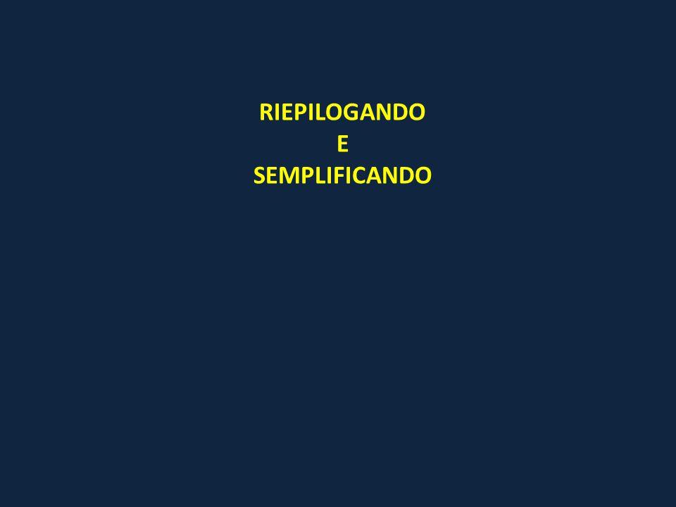 RIEPILOGANDO E SEMPLIFICANDO