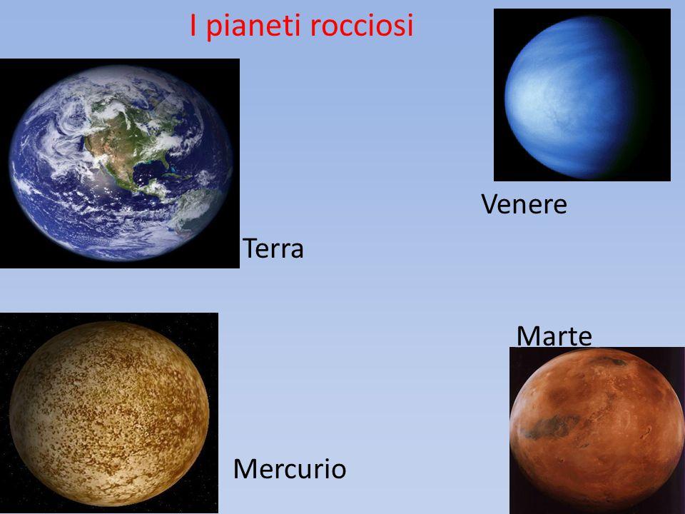 I pianeti rocciosi Venere B Terra Marte Mercurio