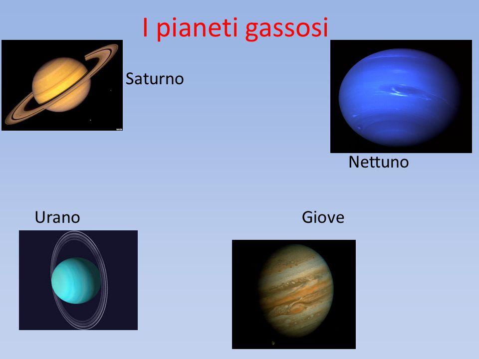 I pianeti gassosi Saturno Nettuno Urano Giove