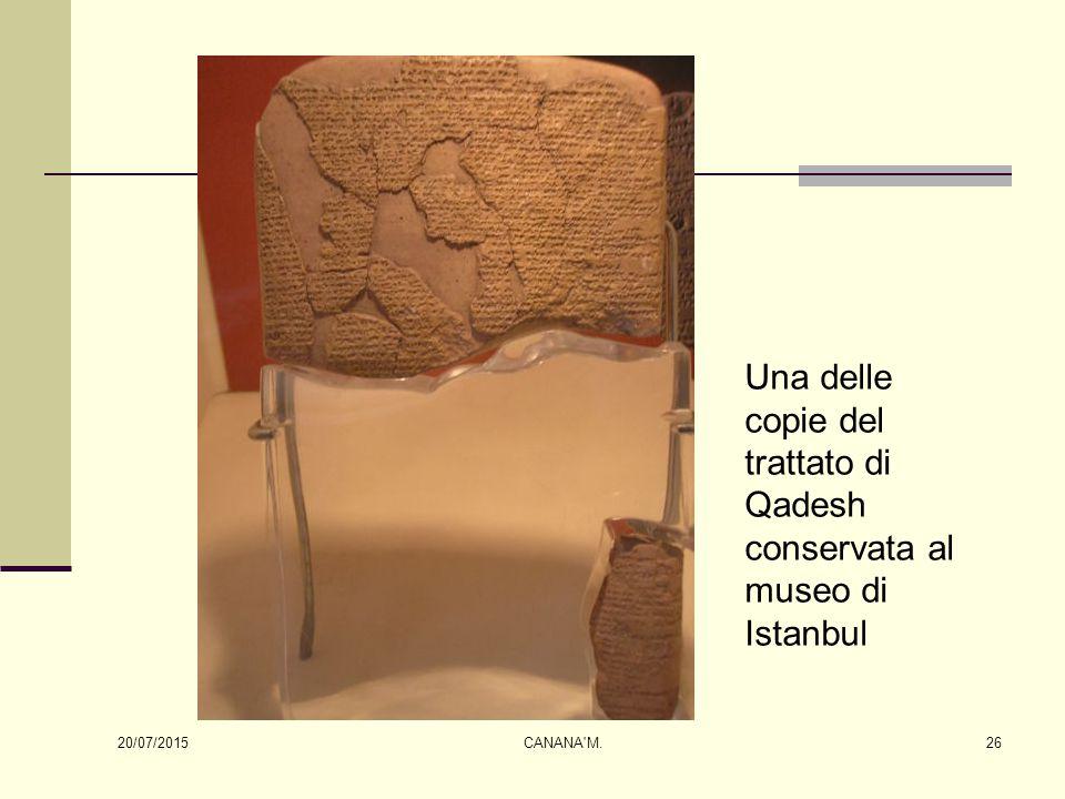 Una delle copie del trattato di Qadesh conservata al museo di Istanbul 20/07/2015 26CANANA'M.