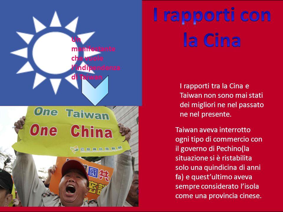 I rapporti tra la Cina e Taiwan non sono mai stati dei migliori ne nel passato ne nel presente.