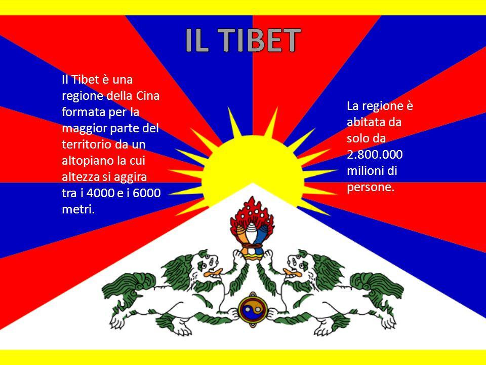 Il Tibet è una regione della Cina formata per la maggior parte del territorio da un altopiano la cui altezza si aggira tra i 4000 e i 6000 metri.