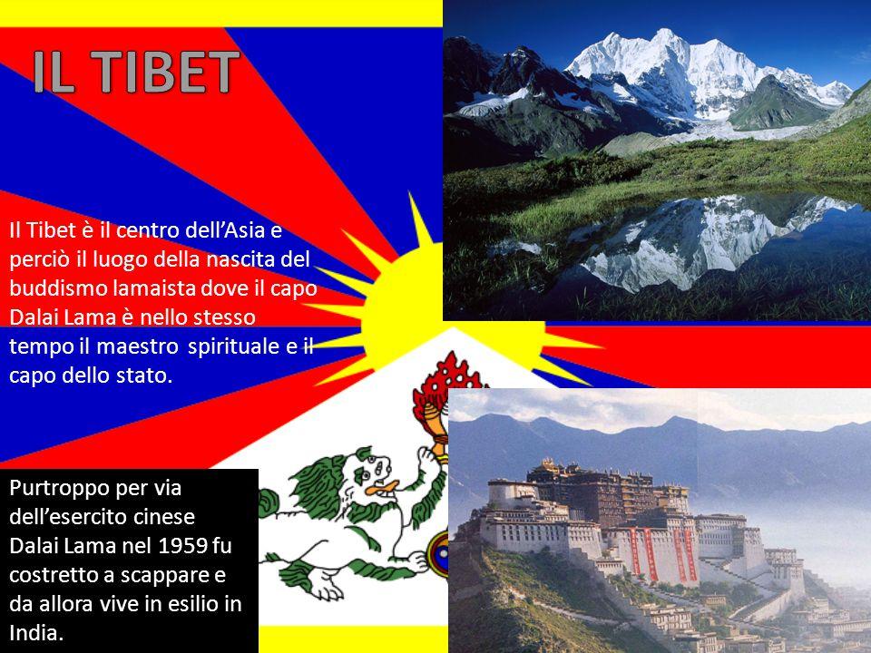 Il Tibet è il centro dell'Asia e perciò il luogo della nascita del buddismo lamaista dove il capo Dalai Lama è nello stesso tempo il maestro spirituale e il capo dello stato.