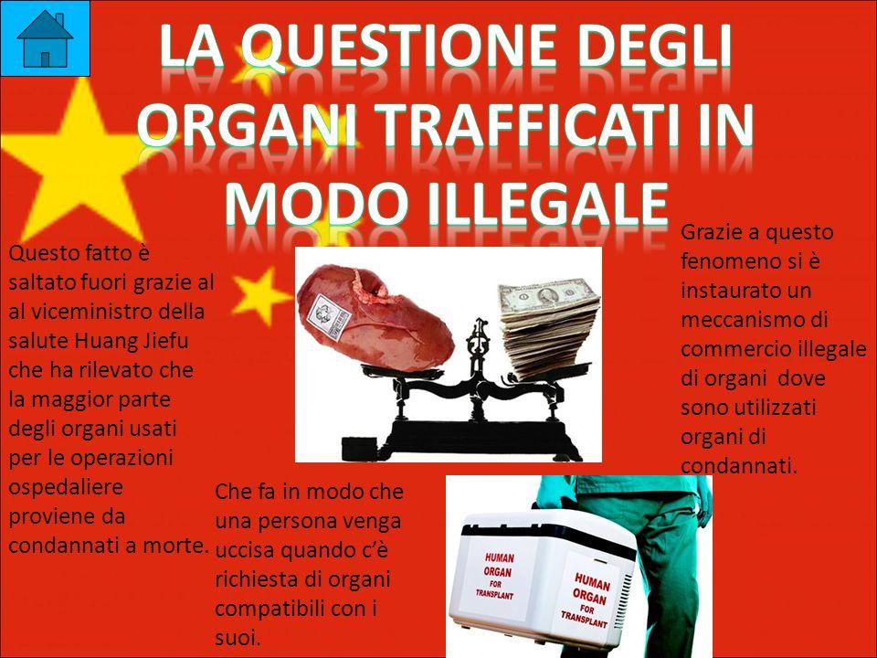 Questo fatto è saltato fuori grazie al al viceministro della salute Huang Jiefu che ha rilevato che la maggior parte degli organi usati per le operazioni ospedaliere proviene da condannati a morte.