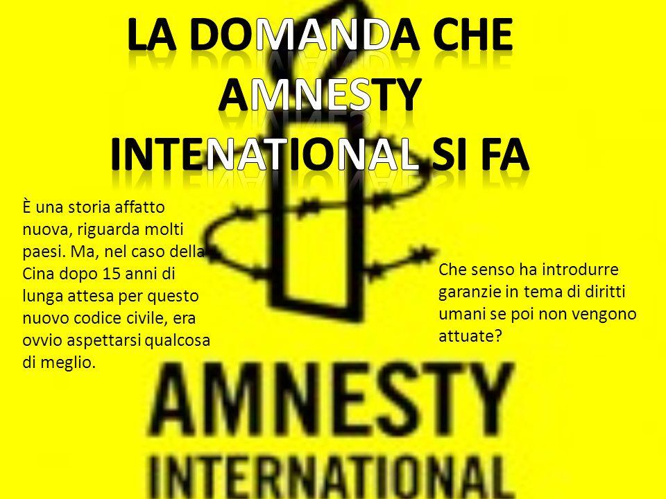 Che senso ha introdurre garanzie in tema di diritti umani se poi non vengono attuate.