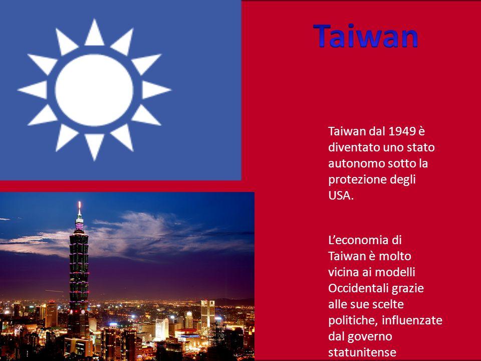 Taiwan dal 1949 è diventato uno stato autonomo sotto la protezione degli USA.