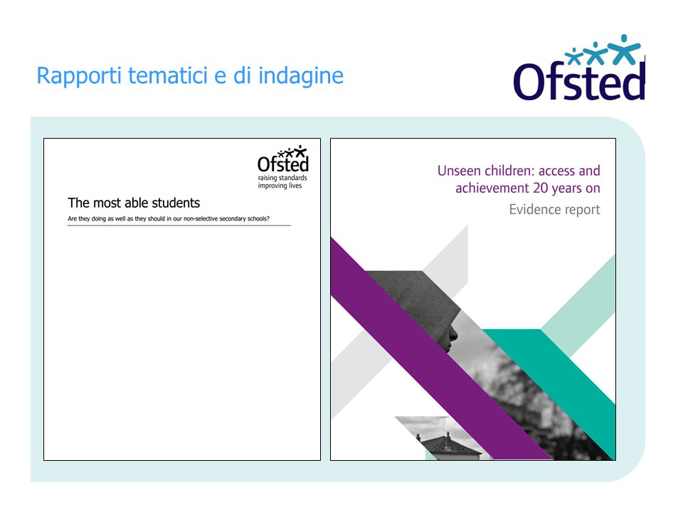 Rapporti tematici e di indagine