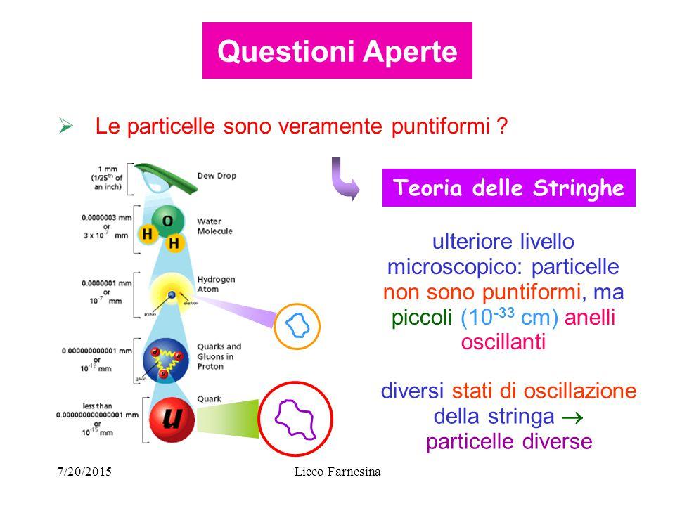7/20/2015Liceo Farnesina  Le particelle sono veramente puntiformi .