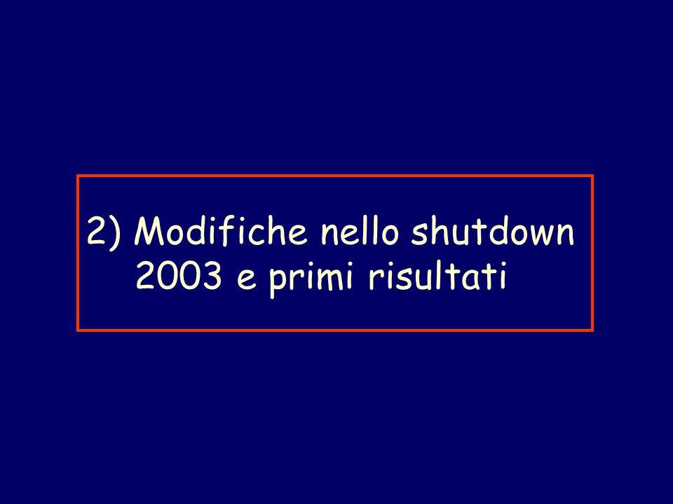 2) Modifiche nello shutdown 2003 e primi risultati