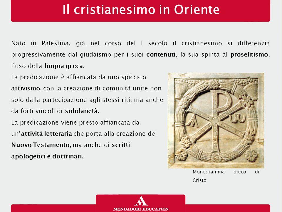 Nato in Palestina, già nel corso deI I secolo il cristianesimo si differenzia progressivamente dal giudaismo per i suoi contenuti, la sua spinta al proselitismo, l'uso della lingua greca.
