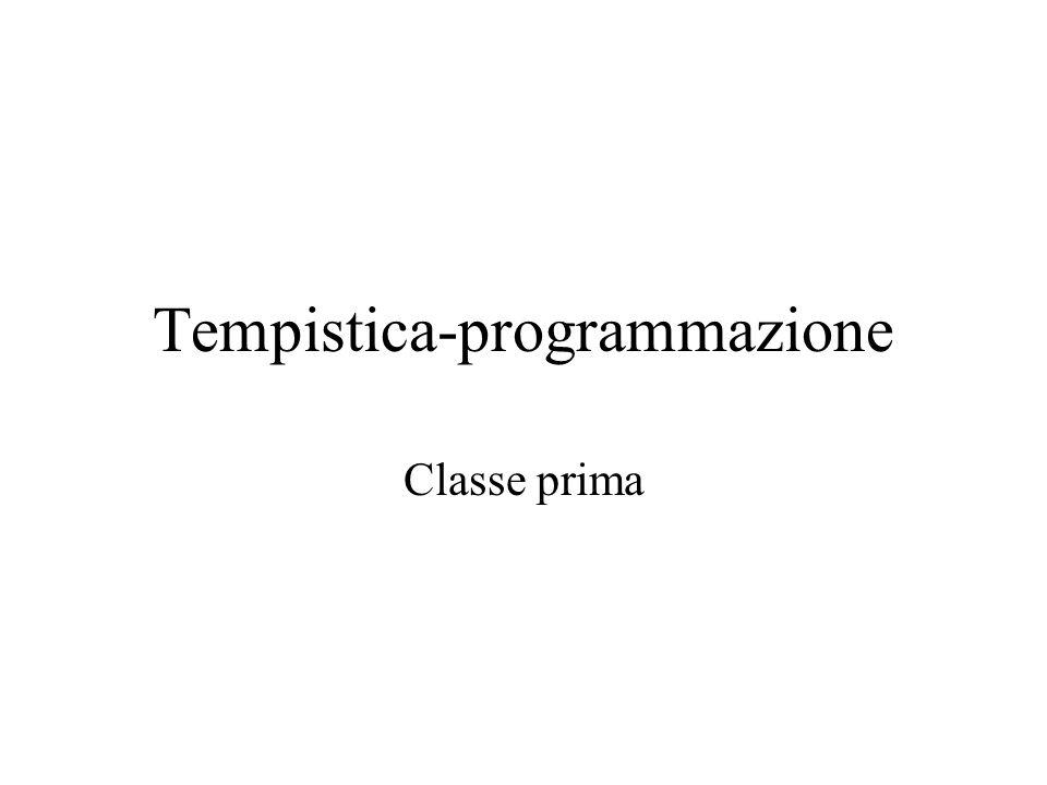Tempistica-programmazione Classe prima