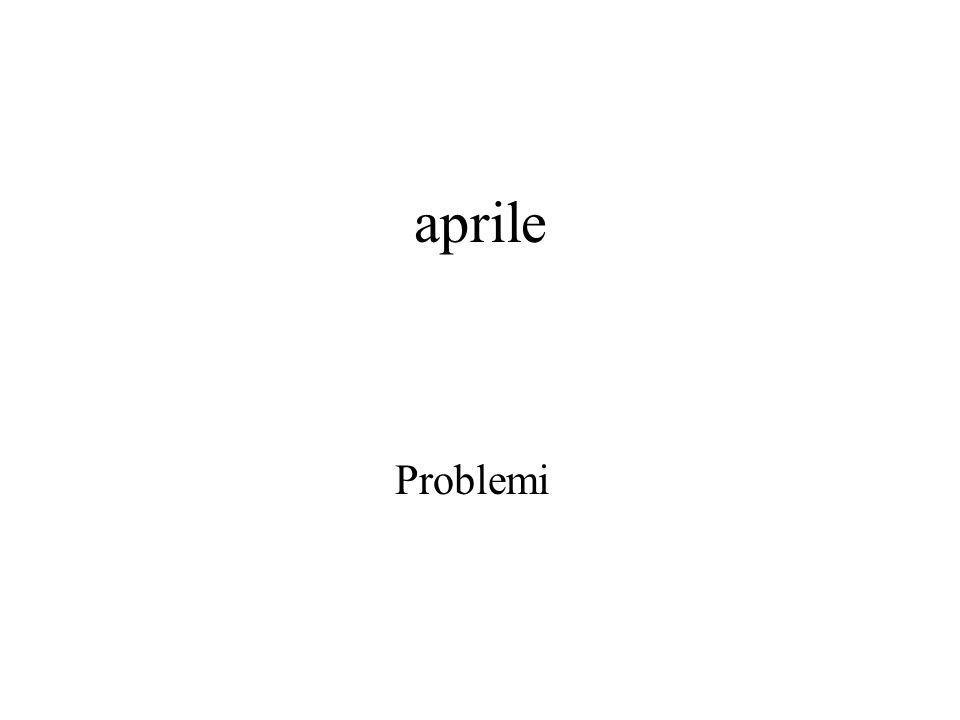 aprile Problemi