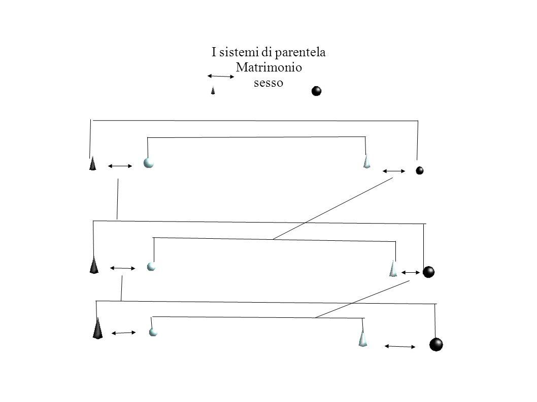 I sistemi di parentela Matrimonio sesso