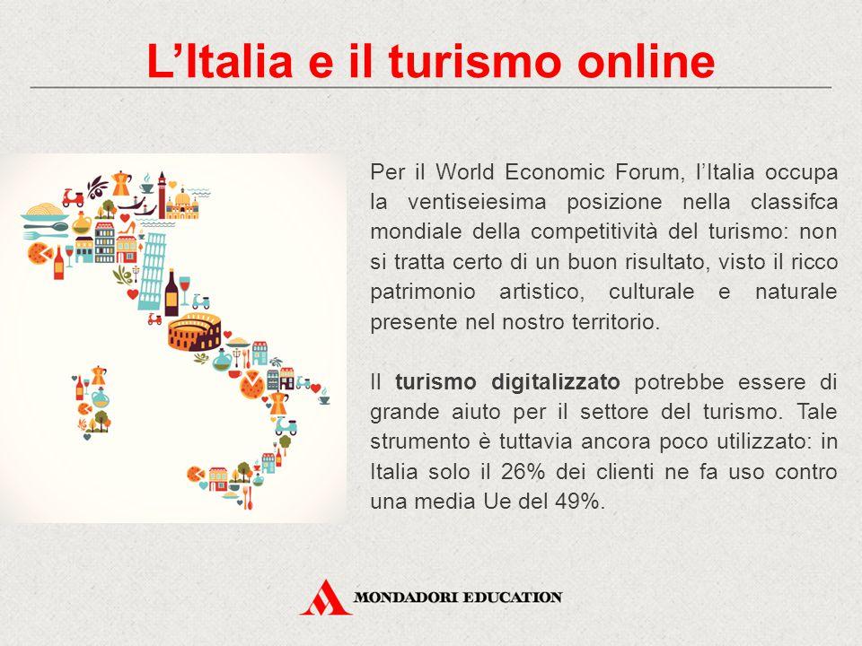 Per il World Economic Forum, l'Italia occupa la ventiseiesima posizione nella classifca mondiale della competitività del turismo: non si tratta certo di un buon risultato, visto il ricco patrimonio artistico, culturale e naturale presente nel nostro territorio.