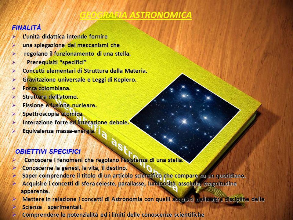 """FINALITÀ  L'unità didattica intende fornire  una spiegazione dei meccanismi che  regolano il funzionamento di una stella.  Prerequisiti """"specifici"""